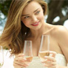 International Supermodel Miranda Kerr toasts to a new stemware range for Royal Albert